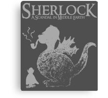 Sherlock: A Scandal in Middle-earth (Grey) Canvas Print
