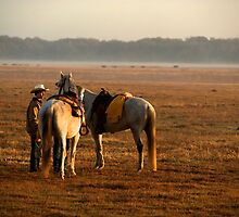 """""""Dawns Early Light""""- Cowboy Roundup by Timothy Clark"""