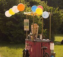 Ice cream cart, English Gardens, Munich by MikeyLee