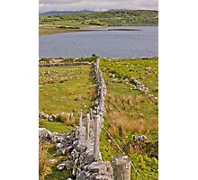 fence line oh land erins green Photographic Print