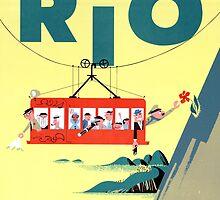 Rio Vintage Travel Poster Restored by Carsten Reisinger
