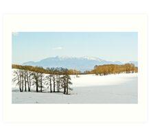 Snowy pass above Escalante, UT Art Print