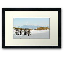 Snowy pass above Escalante, UT Framed Print