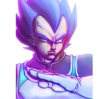 Vegeta Super Saiyan God Photographic Print