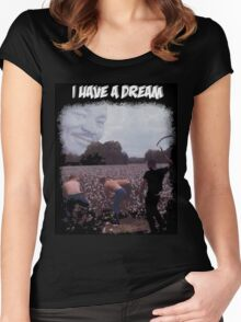 Martin Luther King I have a dream of Irony  Women's Fitted Scoop T-Shirt