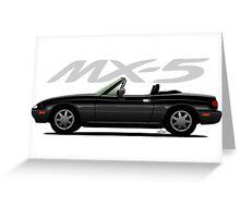 Mazda MX-5 black Greeting Card