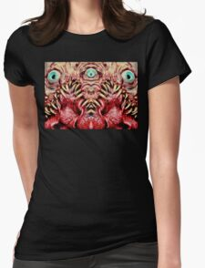 Mirrored beast Womens Fitted T-Shirt