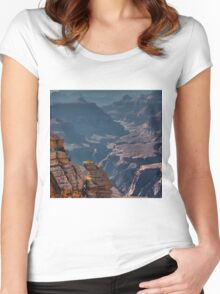 Grand Canyon, Mather Point, Arizona Women's Fitted Scoop T-Shirt