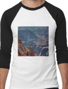 Grand Canyon, Mather Point, Arizona Men's Baseball ¾ T-Shirt