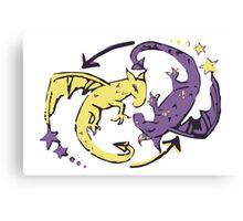 Spiraling Dragons Canvas Print