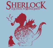 Sherlock - A scandal in Middle Earth (red) One Piece - Short Sleeve