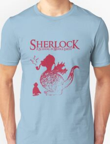 Sherlock - A scandal in Middle Earth (red) Unisex T-Shirt