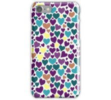 Colorful pattern with hearts. iPhone Case/Skin