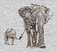 Swirly Elephant Family Kids Clothes