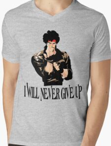 Never Give up Design T-shirt Mens V-Neck T-Shirt