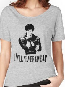 Never Give up Design T-shirt Women's Relaxed Fit T-Shirt