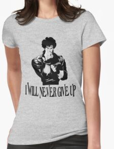 Never Give up Design T-shirt Womens Fitted T-Shirt