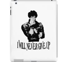 Never Give up Design T-shirt iPad Case/Skin