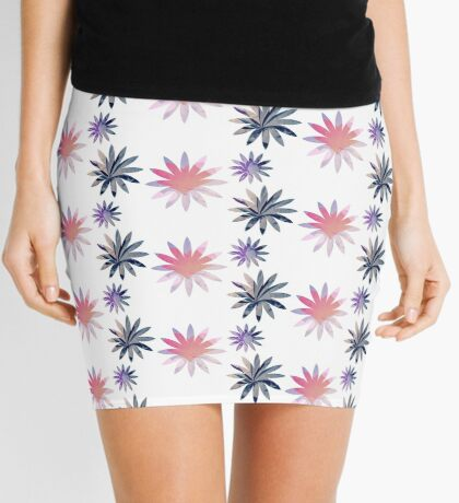 Sumi-e Flowers Mini Skirt