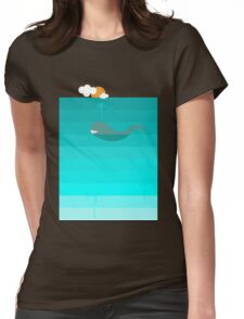 The Whale Womens Fitted T-Shirt