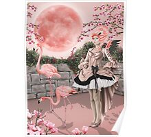 Flamingo Fairy - Pink Moon Poster