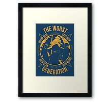 One Piece - The Worst Generation Framed Print