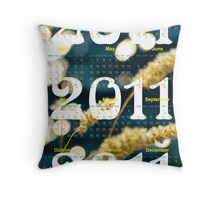 Calendar 2011-Background for leaflet Throw Pillow