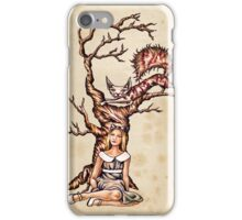 Print Alice in Wonderland with Cheshire Cat on Vintage Paper iPhone Case/Skin