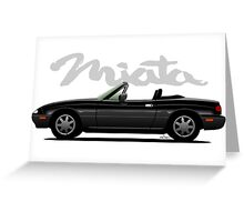 Mazda Miata black Greeting Card
