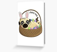 Easter Pug Greeting Card