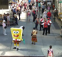 Sponge Bob Square Pants Visits New York  by clizzio