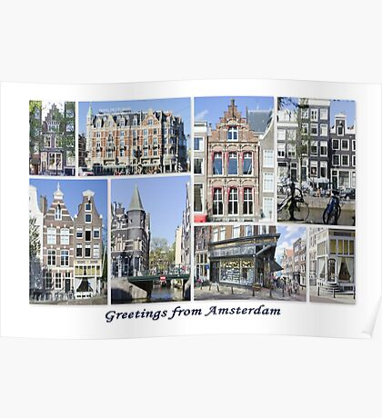 Greetings from Amsterdam Poster