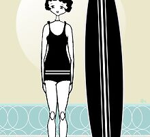 1920s Flapper Surfer Girl  by CecelyBloom