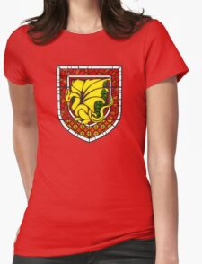 Stained Glass Pendragon Crest Womens Fitted T-Shirt