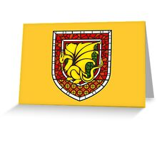 Stained Glass Pendragon Crest Greeting Card
