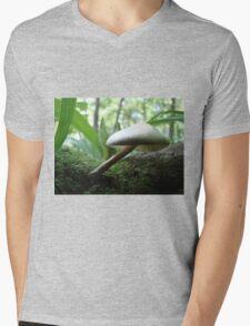 Craning Her Neck Mushroom Mens V-Neck T-Shirt