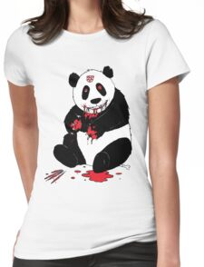 deathmetal panda Womens Fitted T-Shirt