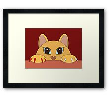 MANICURE PEDICURE CAT Framed Print