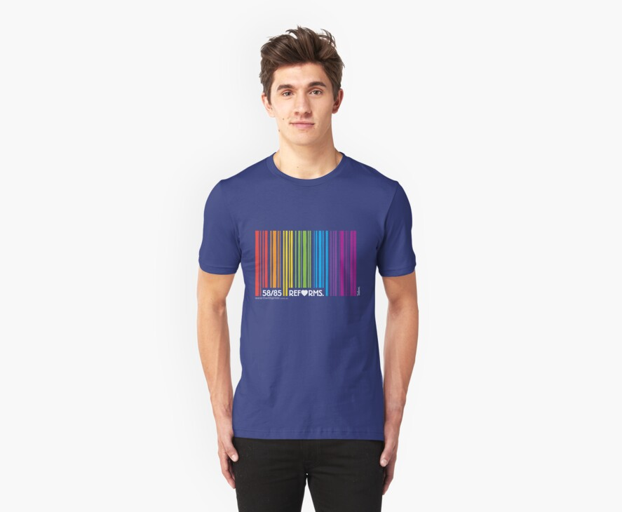 T-Shirt 58/85 (Financial) by Craig Rochfort by WEAR IT WITH PRIDE (ACON)