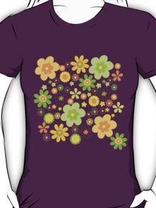 Green & Yellow flowers scattering T-Shirt