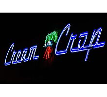 Neon Sign in Oceanside California Photographic Print