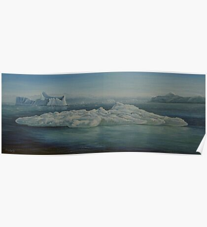 ICEBERGS by Ken Tregoning Poster