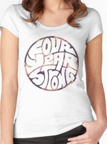 Four Year Strong Floral 2 Women's Fitted Scoop T-Shirt