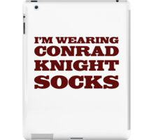 Conrad Knight Socks iPad Case/Skin