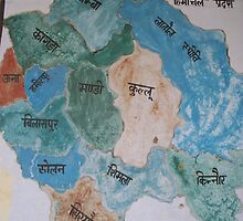 Map of Districts in Himachal Pradesh by Angie Spicer