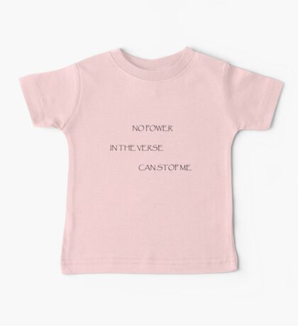 No Power in the Verse (Light) Baby Tee