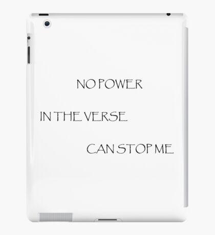 No Power in the Verse (Light) iPad Case/Skin