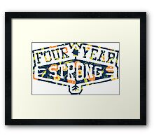 Four Year Strong logo 1 Framed Print