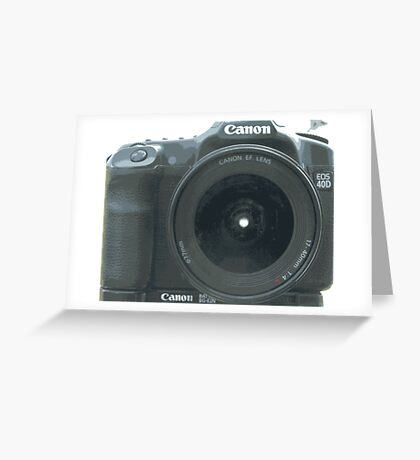 Canon 40D Greeting Card