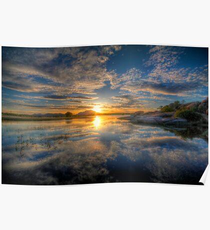 Sunset Reflect 1 Poster